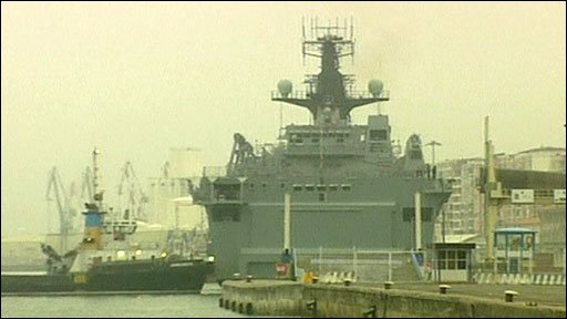 HMS Albion in the Spanish port of Santander