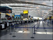 Heathrow airport during ash crisis