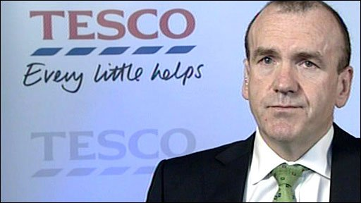 Tesco's chief executive Sir Terry Leahy