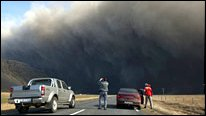 Cars and volcanic cloud