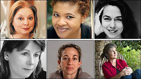 Clockwise: Hilary Mantel, Attica Locke, Lorrie Moore, Barbara Kingsolver, Monique Roffey and Rosie Allison