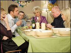 The Mitchell family in Eastenders