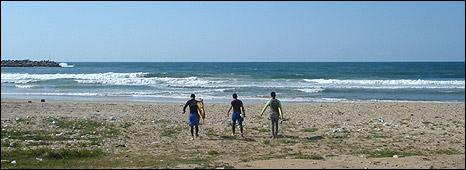 Gazan surfers