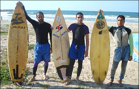 Gaza Surf Club members