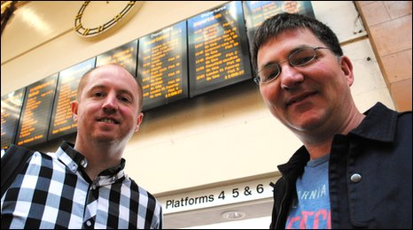 Robin Chipperfield and Mark Shardlow at Nottingham Train Station