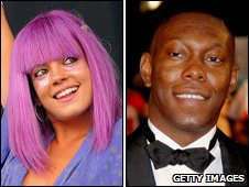 Lily Allen and Dizzee Rascal