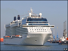 New cruise ship Celebrity Eclipse in Southampton, 20 Apr 10