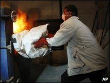 Burning drugs in Gaza