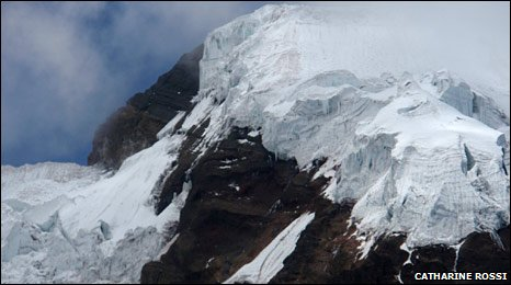 Antizana glacier in Ecuador