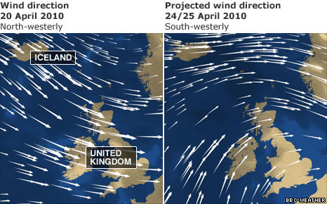 Wind direction map