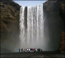 Pupils at an Icelandic waterfool