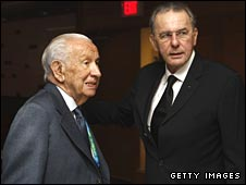 Juan Antonio Samaranch and Jacques Rogge