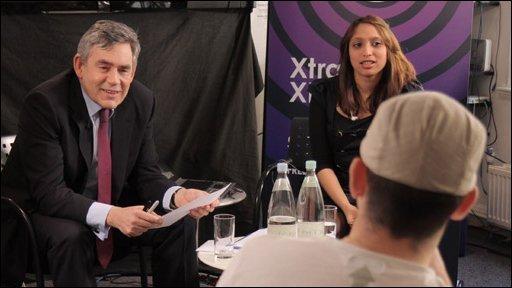 Gordon Brown and Newsbeat listener