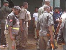 Security forces control the Kaduna prison riot, Nigeria