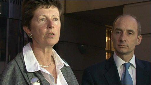 CAA's Dame Deidre Hutton and Trasnport Secretary Lord Adonis