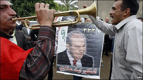 Iyad Allawi supporters celebrate 27.03.10