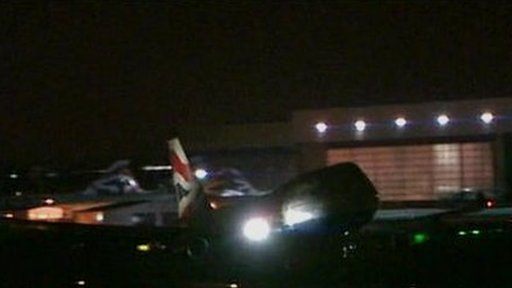 The first flight lands at Heathrow after flight restrictions were lifted