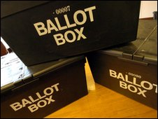 Ballot boxes