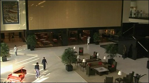 Inside the refurbished Oberoi hotel