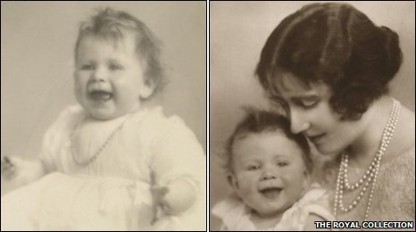 (Left) - Princess Elizabeth (Right) - The Duchess of York with Princess Elizabeth