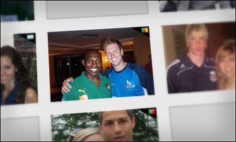 Geremi, Fernando Torres and Christiano Ronaldo pose with fans in our World Cup Photo Album