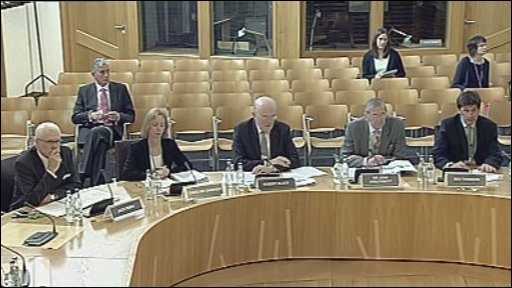 The first panel who gave evidence on the budget