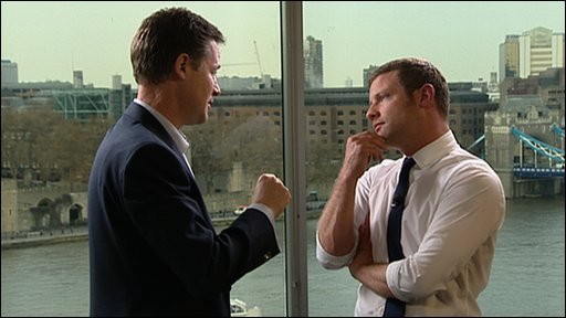 Nick Clegg and Dermot O'Leary