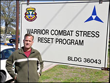 William B Allen at the Warrior Combat Stress Reset Center at Ford Hood