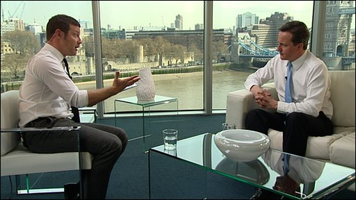Dermot O'Leary and David Cameron