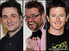 Top Gear's US presenters Adam Ferrara, Rutledge Wood and Tanner Foust