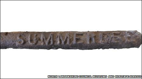 Bar of pig iron (North Lanarkshire Council Museums and Heritage Service)