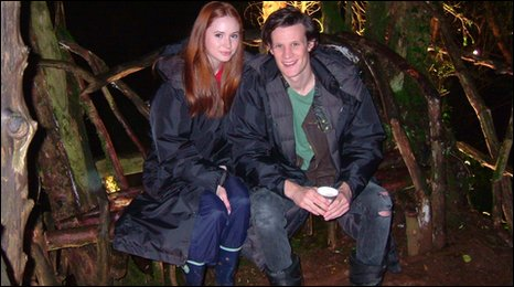 Karen Gillan and Matt Smith at Puzzlewood