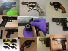 Guns seized during Operation Peyzac