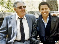 Stanley Armour Dunham and Barrack Obama in 1979