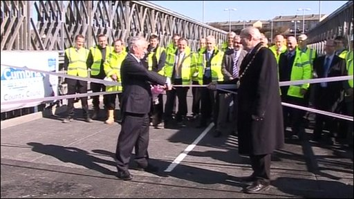 The official opening of the bridge