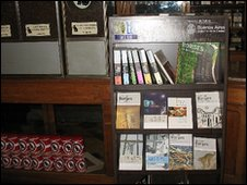 Books on display at Cafe Poesia