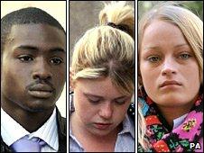 From left: Joel Alexander, Rachel Burke, Ruby Thomas