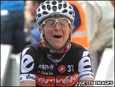 Emma Pooley wins in Belgium