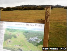 A sign marks RAF Stoney Cross