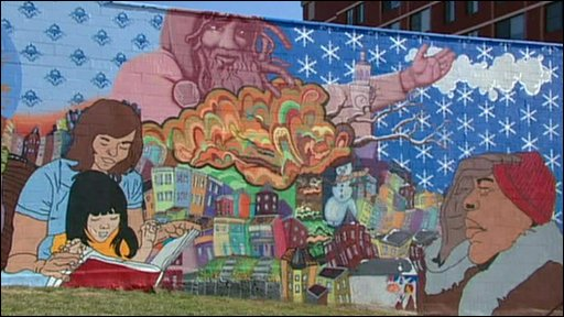 A mural in Washington DC