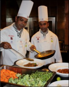 Chefs at the Calcutta curry festival