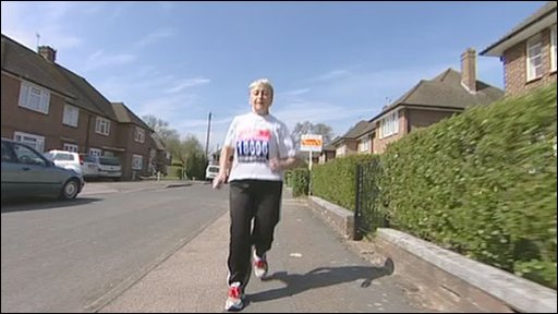 Irene Clarke from London who has already run 16 marathons