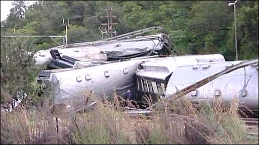 Luxury train crash in South Africa