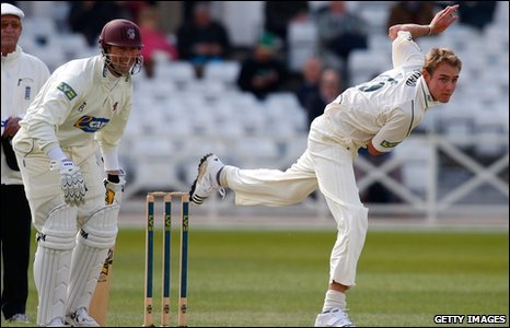 Marcus Trescothick and Stuart Broad