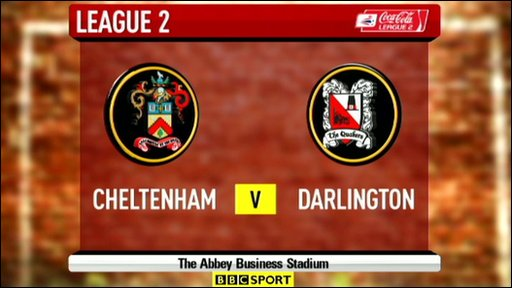 Cheltenham 3-3 Darlington