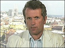 Martin Bell reporting from Croatia in 1991 