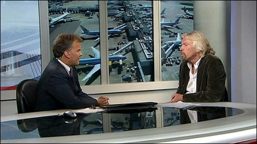 Matt Frei talks to Richard Branson