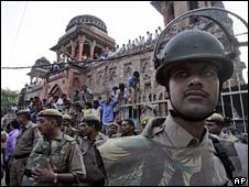 Police in Mehrauli, Delhi