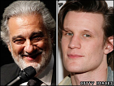 Placido Domingo and Matt Smith