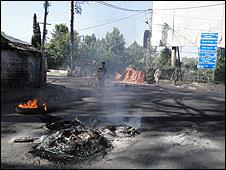Aftermath of a demonstration in the Hazara region